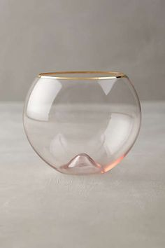 Anthropologie - Gilded Rim Stemware - 6 or 8 glasses