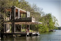 An awesome multi-function dock that's more like a water-based tree house.