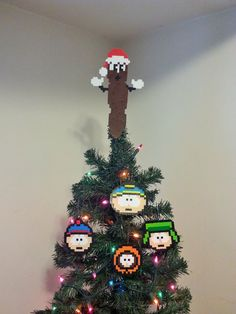 South Park Mr Hanky The Christmas Poo Perler Bead Christmas Tree Topper Set (5 piece) by LighterCases on Etsy https://www.etsy.com/listing/85238626/south-park-mr-hanky-the-christmas-poo