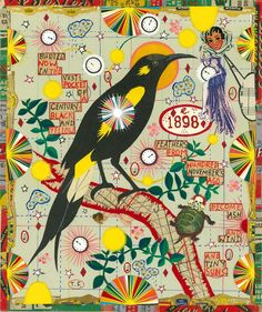Available for sale from Cynthia Corbett Gallery, Tony Fitzpatrick, Bird of the Century Unique Collage, 11 × 10 in Tony Fitzpatrick, Collage Artists, Visionary Art, Illustration Artists, Surreal Art, Famous Artists, Bird Art, Artist Art, American Artists