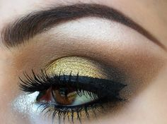 Love the gold eye shadow