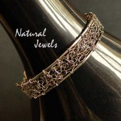 Web of Silver - Sterling silver bracelet - Made by Natural Jewels