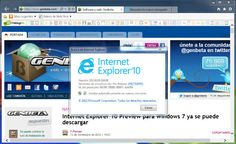 Internet Explorer 10 Preview para Windows 7 ya se puede descargar http://www.genbeta.com/p/72726