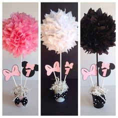 Minnie Mouse birthday party decoration Light Pink by AlishaKayDesigns