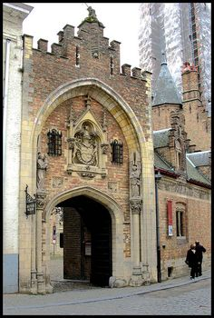 Outside Doorway to the Gruuthuse Museum Bruges