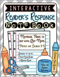 Interactive Reader's Response Notebook - will buy this as have nothing for Guns of Easter, generic novel responses to maybe make into a scrapbook