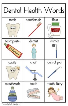Dental Health Writing Center Mini Packet $1.50