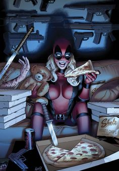 Lady Deadpool: Lady Deadpool #1... is it weird how alike i am to this?