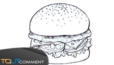 Sometimes it's hard to draw, although they may be simple shapes, but you don't know where to start. In OneHowto, we give you the solution to draw a delicious. Burger Drawing, How To Apply Makeup, Simple Shapes, Learn To Draw, Colorful Pictures, Easy Drawings, Handwriting, Make It Yourself, Cute
