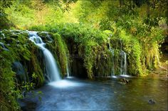 May in Lathkill Dale as the spring colours are vibrant with the water cascading over the foliage Places To Travel, Places To See, Uk Destinations, Peak District, English Countryside, Derbyshire, Photo Location, Landscape Photos, Natural Wonders