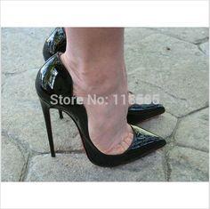 Шпильки красные нижние высокие каблуки кожи женщин лодочки бренда красные днища женская обувь на высоких каблуках свадебные туфли указал toe высокий каблук купить на AliExpress