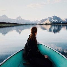 Image via We Heart It #beautiful #boat #girl #water