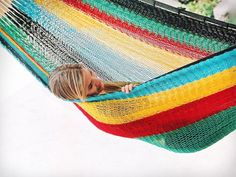 Mayan Hammock - XL Family-sized Thick Cord - Hammock Universe USA Source by Mayan Hammock, Hammock Cover, Hammock Stand, Relaxation Station, Under The Rain, Ways To Relax, To Color, Outdoor Furniture, Outdoor Decor