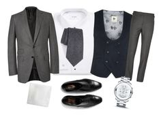 """""""OOTDW-4M61 by Katie"""" by katie-xdress-morgan ❤ liked on Polyvore featuring ETON, Topman, Tom Ford, Armani Collezioni, Steve Harvey, Movado, men's fashion and menswear"""