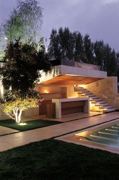 Bassil Mountain Escape, by Vladimir Djurovic Landscape Architecture in Faraq, Le. - Bassil Mountain Escape, by Vladimir Djurovic Landscape Architecture in Faraq, Lebanon. Architecture Cool, Contemporary Architecture, Landscape Architecture, Landscape Designs, Outdoor Lighting, Lighting Ideas, Dramatic Lighting, Lighting Design, Exterior Design