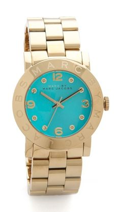 I love the combination of aqua and gold! It is such a warm and perfect pairing and it's done beautifully with this Marc by Marc Jacobs watch! And this would be the perfect accent for your post-Summer tan!  |Marc by Marc Jacobs Amy Watch|
