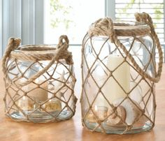 Rope Net Candle Lanterns…