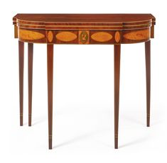 VERY FINE FEDERAL INLAID AND FIGURED MAHOGANY GAMES TABLE, New York, Circa 1795