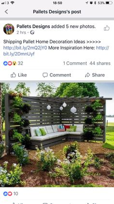 Pallet Designs, Shipping Pallets, Outdoor Structures, Gardening, Inspiration, Home Decor, Pallet Projects, Biblical Inspiration, Decoration Home