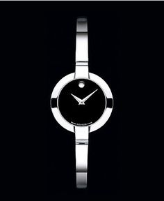 Movado Watch, Women's Swiss Bela Stainless Steel Bangle Bracelet 24mm 0605853 - All Watches - Jewelry & Watches - Macy's