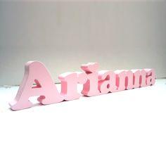 Nome Arianna em MDF http://decoclock.net/portfolio/nomes-mdf/