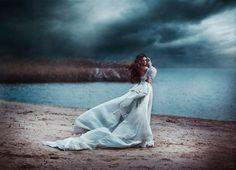 Artistic Fashion Photography by Svetlana Belyaeva. Beautiful dress. Storm.