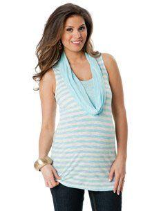 Motherhood Maternity: Sleeveless Drape Neck Drape Maternity T Shirt