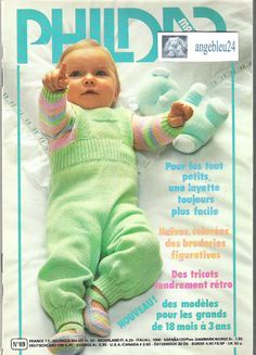 phildar baby patterns - This is so ironic, I bought this book when I was pregnant with you. Crochet For Boys, Knitting For Kids, Knit Or Crochet, Knitting Yarn, Baby Knitting, Knitting Magazine, Crochet Magazine, Baby Patterns, Crochet Patterns