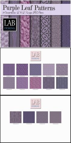 14 Purple Leaf Fabric Textures. Textures. $6.00