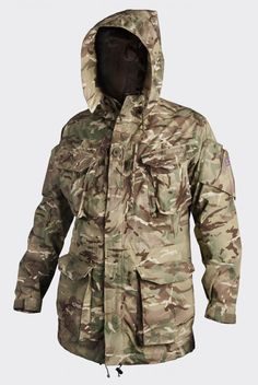 """Helikon-Tex of Poland's KU-PCS-PT Personal Clothing System Smock, Made from 50% Cotton, 50% Polyester Twill ... Weighs in at 1270 grams ... This is a PCS traditional Smock-based design delivered in new MP Camo® (I'm Not Sure if that is the Brit's New MTP (Multi-Terrain Pattern) Camouflage, Designed for Them by Crye Precision, or Helikon-Tex's Own """"CamoGrom"""" Pattern that's Been Rebranded, or Something Brand New. With the Long Horizontal Elements it Looks a Lot Like the Brit's MTP Camo). The…"""