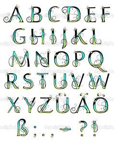 Colorful Lettering