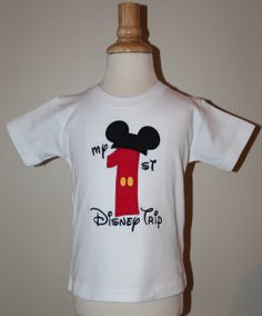 My 1st Disney Trip Mouse Ears Short Sleeve Shirt - Perfect matching shirts for siblings/family trips
