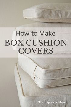 DIY Box Cushion Cover Tutorials is part of Sewing - Hello DIY slipcover makers! Today I want to share a few good resources for making your own box cushion covers I know the thought of measuring, cutting and assembling all of those pieces — t… Sewing Hacks, Sewing Tutorials, Sewing Crafts, Sewing Tips, Sewing Box, Sewing Ideas, Sewing Piping, Bags Sewing, Video Tutorials