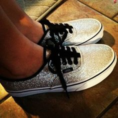 shoes vans sequins silver sequins