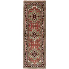 eCarpetGallery Serapi Heritage Black/Brown Wool and Cotton Hand-knotted Oriental Rug (2'7 x 7'11)