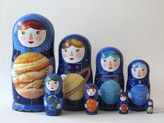 Planet Women Nesting Dolls