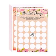 """Package Includes50 Floral Rustic Bridal Shower Wedding Game Cards Party Supplies -Bingo 5""""x7"""" x 1Item Description50 Floral Rustic Bridal Shower Wedding Game Cards Party Supplies -Bingo 5""""x7""""Floral Bridal Shower Games - Bingo, 50 Sheet Rustic Wedding Game Cards, Party Supplies for Bachelorette Party and Wedding, 50 Vintage Cards Included, 5 x 7 Inches, BeigeGREAT FOR WEDDING OR BRIDAL SHOWER: Even for Bachelorette Party; Engagement Party; Rehearsal Dinner; or Anniversary Party.HIGH QUALITY… Bridal Bingo, Fun Bridal Shower Games, Party Card Games, Game Cards, Party Fun, Anniversary Party Games, Wedding Anniversary, Rustic Wedding Games, Pre Wedding Party"""