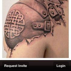 Tribal tattoo.