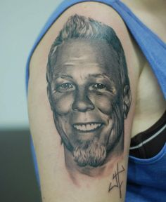 F-ing James Hetfield Tattoo - AWESOME!!!! Tattoo by Stefan Hatchikian at Butterfly Tattoo Studio in Sofia, Bulgaria