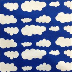 Jersey Fabric Fluffy Clouds