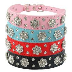 Treat your pet to this Flower Rhinestone Diamante Collar     FREE worldwide shipping    https://www.pawsify.com/product/flower-rhinestone-diamante-collar/