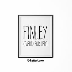 26 best last minute gift ideas for boys images on pinterest name finley baby name art new baby gift letterluxe name meaning negle Choice Image