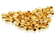 These Gold Filled Crimp Tubes are durable and provide a secure finish on strung designs. Crimp tubes are short thin-walled tube beads. Crimp Beads, Metal Prices, Crimping, Order Up, Tie Knots, How To Make Beads, Tube, Pearl Beads, 30