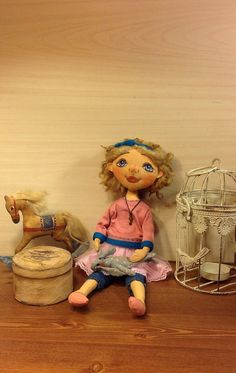 art doll textile heirloom doll OOAK stuff doll collecting