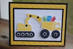 Handcrafted Kids Construction Trucks by PaperBlossomsbyAmy on Etsy, $3.50