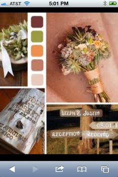 """""""Country Spring Wedding""""??  Spring Wedding colors - muted colors are very pretty"""
