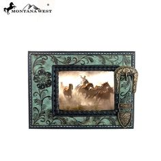 Floral Buckle Resin Texture Photo Frame