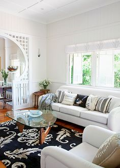 A few simple changes have created a user-friendly living space that sings with classic Queenslander heritage style