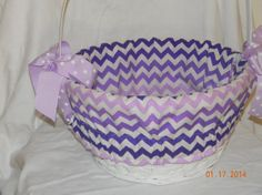 Easter basket liner in purple and white by CarolinaKidzClothing, $19.50