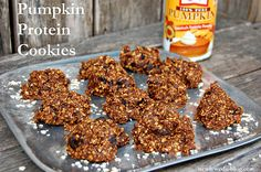 Pumpkin Protein Cookies- high in protein and yummy fall flavors, gluten free and sugar free! Using advocare meal replacement shakes.
